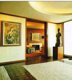 Nelson Rockefeller Fifth Avenue Residence - entrance hall Interior Architecture, Interior And Exterior, Interior Design, Vintage Architecture, Gentlemans Quarters, Nelson Rockefeller, Cottage Interiors, Mid Century Modern Design, Architectural Elements