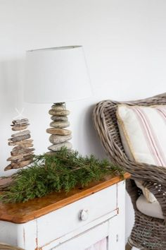 Christmas in the Sunroom - simple and coastal