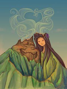 Volcano Love (Amor Vulcânico) por Karen Hallion Illustrations