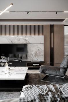 Living Room Tv, Interior Design Living Room, Living Room Designs, Contemporary Interior Design, Interior Design Kitchen, Tv Wall Design, Apartment Design, Decoration, Architecture