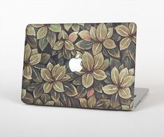 "The Vintage Green Pastel Flower pattern Skin Set for the Apple MacBook Air 13"" from Design Skinz, INC."