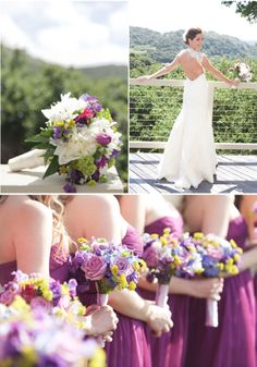 Check out her pics! The color palette is pretty, and her dress is gorgeous! Oh, and she has flowers in her hair instead of a veil. :)