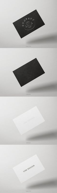 Free - Business Card Mock Up - Pack 2 - Black & White Paper