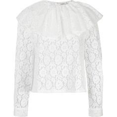 Neul lace blouse ($223) ❤ liked on Polyvore featuring tops, blouses, white, lacy blouses, white blouse, lace top, white lace top and lacy tops