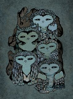 'Night Owls' by jewelwings