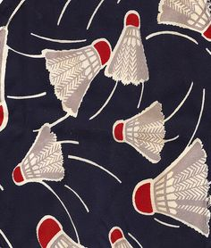 Amusing graphic fabric. Perfect for my imaginary cottage. Or perhaps just a good excuse to use the word shuttlecock.