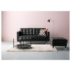 IKEA offers everything from living room furniture to mattresses and bedroom furniture so that you can design your life at home. Check out our furniture and home furnishings! At Home Furniture Store, Modern Home Furniture, Ikea Furniture, Ikea Landskrona, Sofa Frame, Black Sofa, Cushion Filling, Black Metal, Decoration