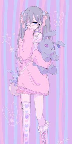 Either my eyes are deceiving me or is it rile C . - Or are my eyes fooling me. Either my eyes are deceiving me or is it rile C . - Or are my eyes fooling me or is it Riley Cielushka? Anime Neko, Manga Anime Girl, Cool Anime Girl, Fanarts Anime, Kawaii Anime Girl, Anime Characters, Anime Girls, Male Manga, Anime Girl Pink