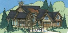The Brule Timberframe Floor Plan | Blue Ox Timber Frames