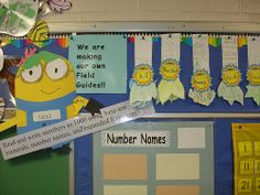 We used our minions throughout the classroom to highlight student work and displays for the year!