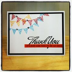 Thank you card http:/www.stampingwithannieb.blogspot.com