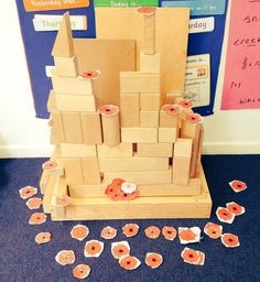 look what the children made during their child-initiated learning time! Remembrance Day Activities, Remembrance Day Poppy, Tom Moore, Anzac Day, Learning Time, Eyfs, Childcare, 5 Years, Teaching Kids