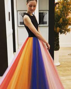 Carolina Herrera rainbow tulle skirt