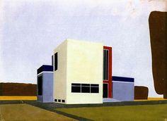 Farkas Molnar - Project for a single-family house, 1922.