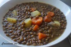 Cocinando con Montse: Lentejas con verduras