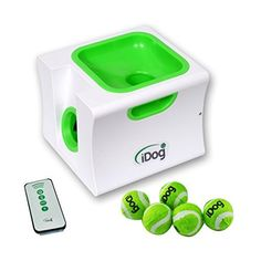 iDog Mini Ball Launcher Dog Automatic Ball Launcher Rechargeable Ball Thrower Interactive Pet Fetch Machine with 5 Balls -- Visit the image link more details. (This is an affiliate link and I receive a commission for the sales) Automatic Dog Ball Thrower, Automatic Ball Launcher, Dog Ball Launcher, Dog Chew Toys, Dog Toys, Pet Camera, Dog Training Pads, Dog Food Storage, Dog Shower