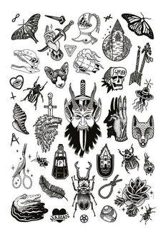 Tattoo Old School Traditional Flash Art - Tattoo Flash Art Tattoos, Body Art Tattoos, Flash Tats, Ship Tattoos, Arrow Tattoos, Mini Tattoos, Cute Tattoos, Black Tattoos, Ankle Tattoos