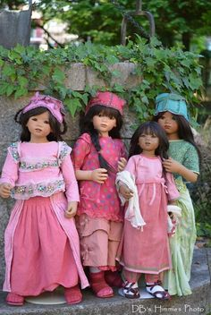 """""""Asian princesses"""" From left to right: Setina, Anna Lu, Sedika, Sinami Sculpted by Annette Himstedt DCB❦ PHOTOGRAPHY http://dcbphotography.bravesites.com/"""