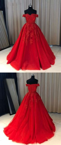 elegant off shoulder prom party dresses with appliques, chic ball gowns for sweet 16 prom. #eveningdresses