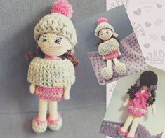 Little princess, in love with pink. Love Crochet, Crochet Hats, Amigurumi Toys, Little Princess, Knitting, How To Make, Pink, Handmade, Instagram