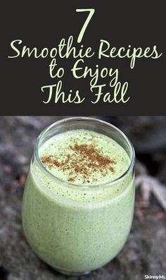 Smoothies are one of the easiest and most efficient ways to pack in all your daily nutrients. I'll be drinking them down with these 7 Smoothie Recipes to Enjoy This Fall.