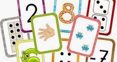 Material imprimible muy útil para hacer juegos de numeración. Me gusta la variedad de representaciones que utiliza (dedos,dibujos,da...