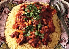 Lamb Tagine with Chickpeas and Apricots (Bon Appetit): We used our Ras el Hanout blend, and added more than the recipe calls for, of course. Add a little orange zest to up the citrus. Use Saigon Cinnamon Chips for a more potent flavor.