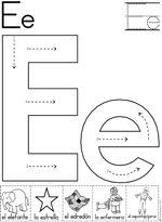 Alphabet Letter E Worksheet Standard Block Font Preschool Printable Activity Early Letter E Activities, Letter E Worksheets, Preschool Letters, Free Preschool, Letter A Crafts, Learning Letters, Preschool Worksheets, Preschool Learning, In Kindergarten