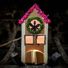 """Franzi, Matt and Emma on Instagram: """"I am so excited to be sharing this tutorial with you (see link in bio). This 'fairy house' lantern is made from common household items…"""" Smell Of Rain, Black Construction Paper, Inspired Learning, Beautiful Fairies, Flower Fairies, Wax Paper, Household Items, Lanterns, Blog"""