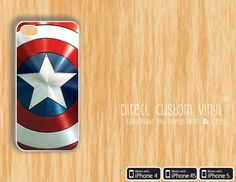 Iphone 4 - Iphone 4s - Iphone 5 - White - Captain America Shield - Comic -  Movie - Protective Case - Hard Case - Cute.  8.99 de5318e97