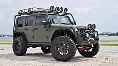 A highly-modified Jeep Wrangler built by CEC Wheels Miami. Photo by: CEC Wheels