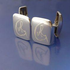 <3 #cufflinks #personalized #monogram #manschettknappar