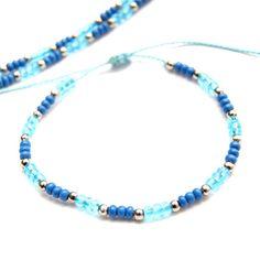 Braided Bracelets – SET-navy blue – a unique product by SheAndHe on DaWanda