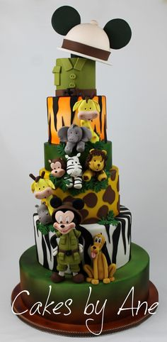 Mickey Mouse Safari Cake                                                                                                                                                                                 Más