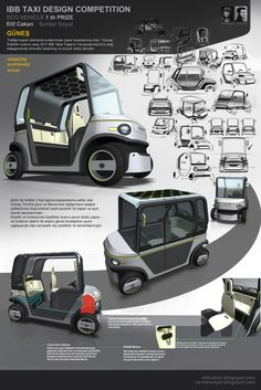 IBB TAXI DESIGN COMPETITION 2011 WINNER PROJECT by Serdar Soyal at Coroflot.com