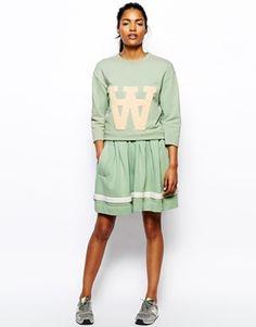from Asos Wood Wood Valerie Cheerleader Skirt in Mint #Asos