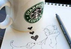 Artist transforms Starbucks cups into works of art