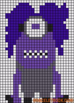 Despicable Me Evil Minion perler bead pattern
