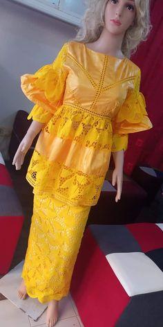 African Wear Dresses, Latest African Fashion Dresses, African Print Fashion, Africa Fashion, African Attire, Abaya Fashion, Fashion Outfits, Princes Fashion, Orange Gown