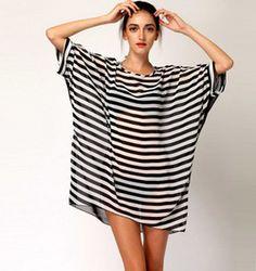 Fashion loose bat sleeve chiffon dress 4463279