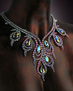 Serena Crystal Necklace DCX610 | Dancesport Fashion @ DanceShopper.com
