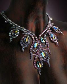 Serena Crystal Necklace DCX610 | Dancesport Fashion @ DanceShopper.com