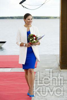 Crown Princess Victoria inaugurated the 'Södra hamnplanen' dock in Lulea - northern Sweden