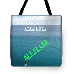 """Alleluia Tote Bag by Meiers Daniel (18"""" x 18"""").  The tote bag is machine washable, available in three different sizes, and includes a black strap for easy carrying on your shoulder.  All totes are available for worldwide shipping and include a money-back guarantee."""