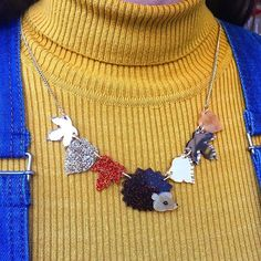 Learn how to make this Hedgehog and Autumn Leaves Necklace, complete with foraged foliage and beady eye at our Brick Lane studio.