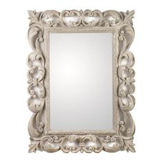 POLYRESIN WALL MIRROR IN GREY COLOR 64X5X87 - MIRRORS - inart