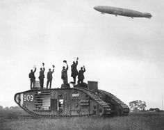 British MKII tank and zeppelin