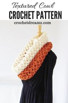 The sea shell crochet cowl free pattern is a quick and easy make. The tutorial to make this elegant and simple neck warmer scarf for women uses worsted weight yarn and a hook. Crochet Scarves, Crochet Shawl, Crochet Yarn, Crochet Clothes, Crochet Cowl Free Pattern, Easy Crochet Patterns, Free Crochet, Quick Crochet, Crochet Ideas