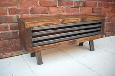 Tv stand rustic industrial tv unit with by Redcottagefurniture