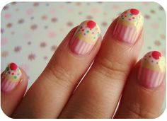 super cute cupcake nails  ***visity mybeautybot.com---The ultimate search for great beauty***